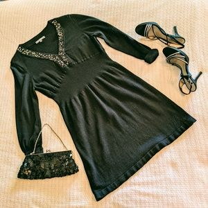 NY Collection Black Sweater Dress LP